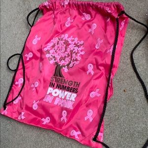 breast cancer awareness draw string bag